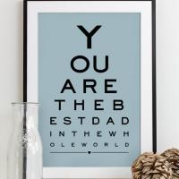 Fathers Day eye chart