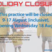 Summer hol closure 2021