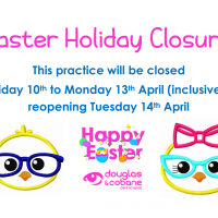 Easter Holiday closure 2020