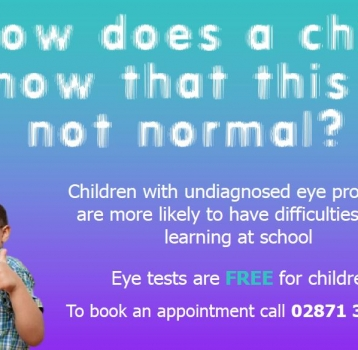 Children's Summer Holiday Eye Tests