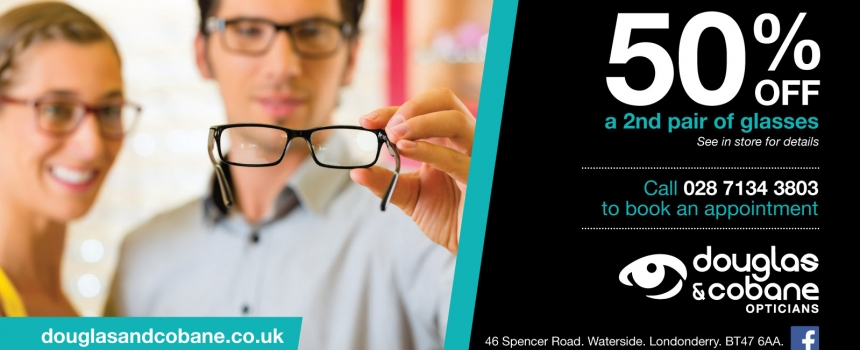 50% off a 2nd Pair of Glasses*