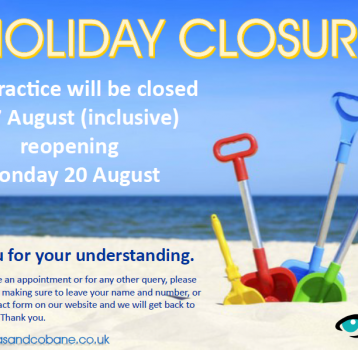 Summer holiday closure