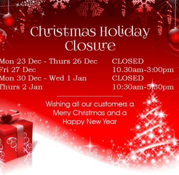 Christmas Holiday Closure
